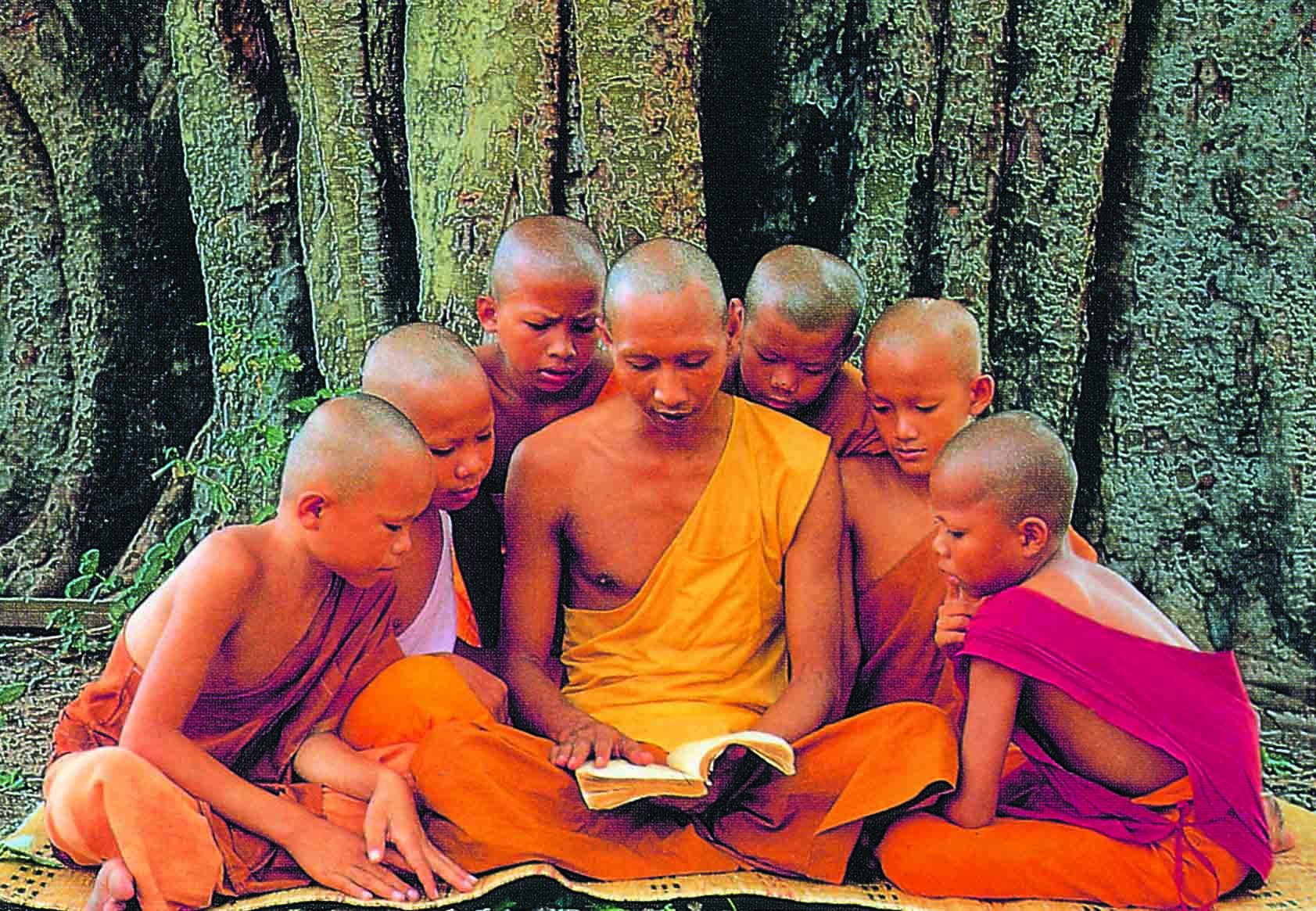 Buddhist Monk Teaching